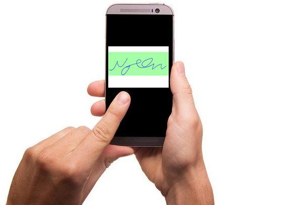 Firma grafometrica tramite smartphone