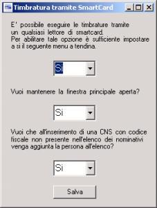 smartcard nella rilevazione delle presenze impostazioni