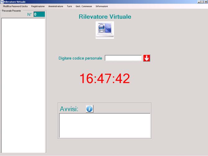 Rilevatore virtuale: le impostazioni di timbratura