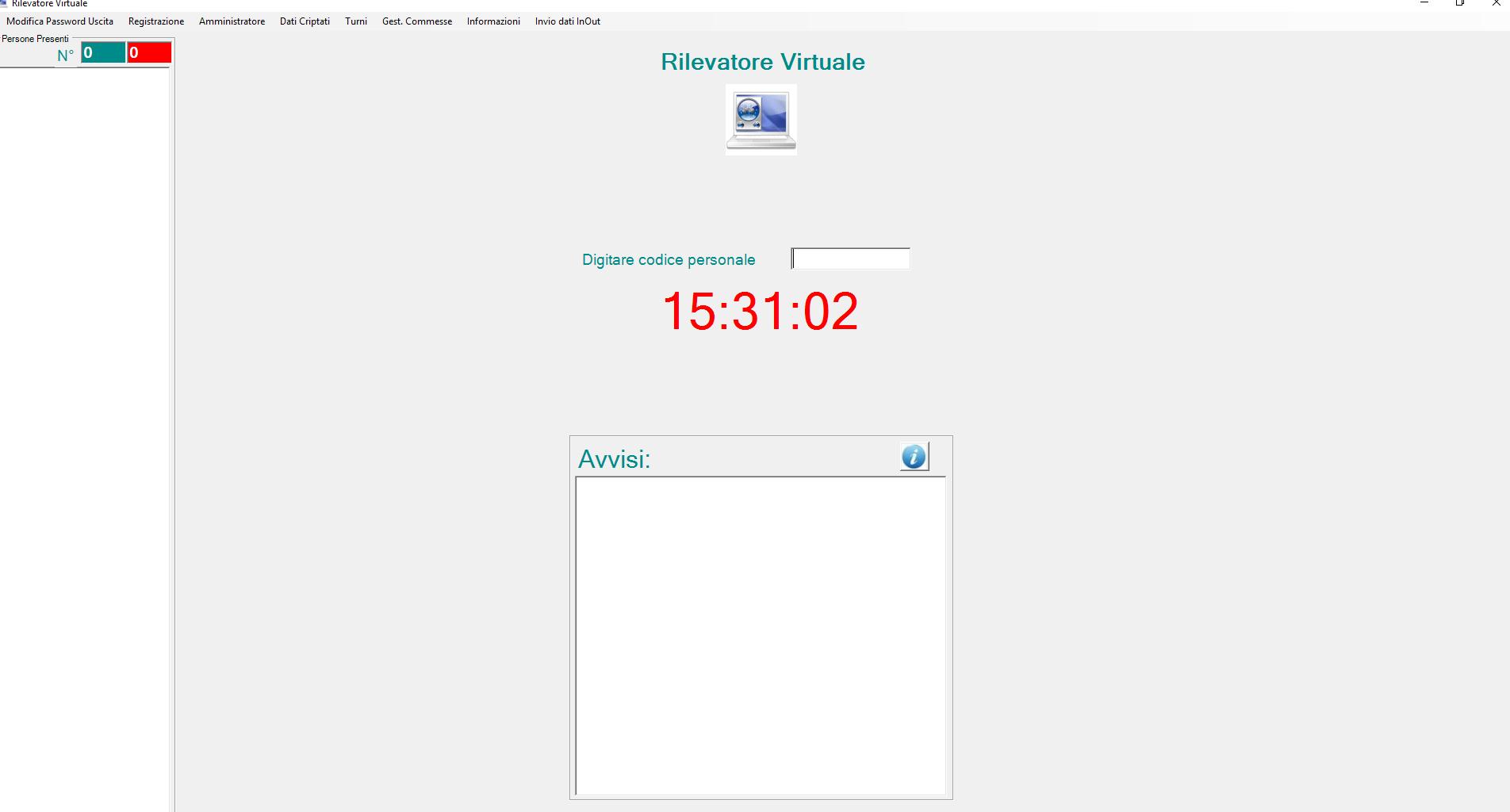Chiave RFID - rilevatore virtuale